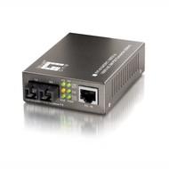 Media Konverter Fast Ethernet für PoE, 10/100TX-100FX SC SM