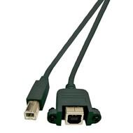 USB B Stecker / B Einbaubuchse 1m, High Speed USB2.0