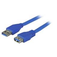 USB3.0 Verlängerungskabel A-A St-Bu 3,0m blau, Premium