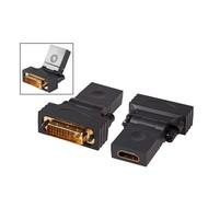 HDMI™ /-DVI 24+1 Adapter Typ A Bu auf DVI-D24+1 St 360°