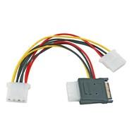 SATA Stromkabel SATA 15P PCB +4 Pin Buchse / 2x 4Pin Buchse