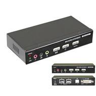 KVM Extender Set DVI USB Sender + Empfänger