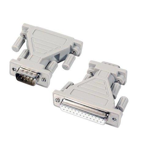 Adapter DB9B/DB25S, beige