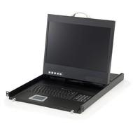 """19"""" Widescreen LCD KVM Rack Console,  DE Keyboard"""