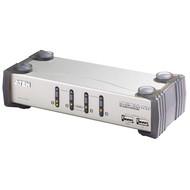 4-Port KVM-Switch USB-Audio 2xUSB2.0 HUB, OSD, Kabelset