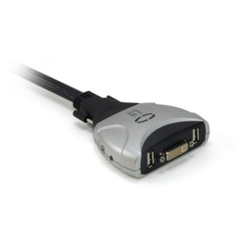 2-Port USB DVI KVM Switch