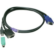 Slim 3-in-1 USB PS/2 KVM KVM Combo cable-1.8M