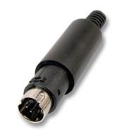 Mini-DIN-Stecker 4-polig ED-DIO-M/04 m. Zugentlastung