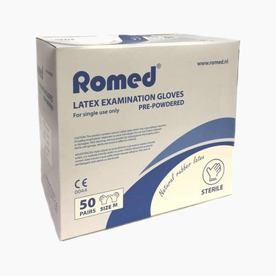 Romed Sterile latex examination gloves