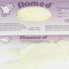 Romed Soft + latexvrije onderzoekshandschoenen niet steriel, poedervrij