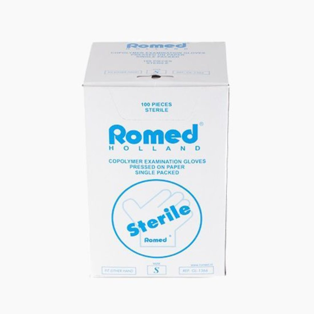 Romed Plastic steriele onderzoekshandschoen