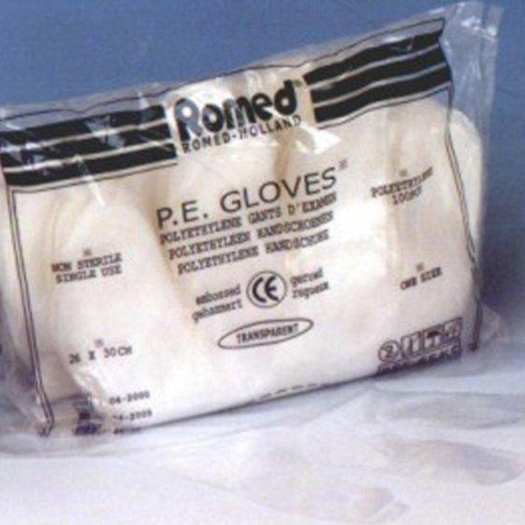 Romed P.E. Plastic niet steriele handschoen