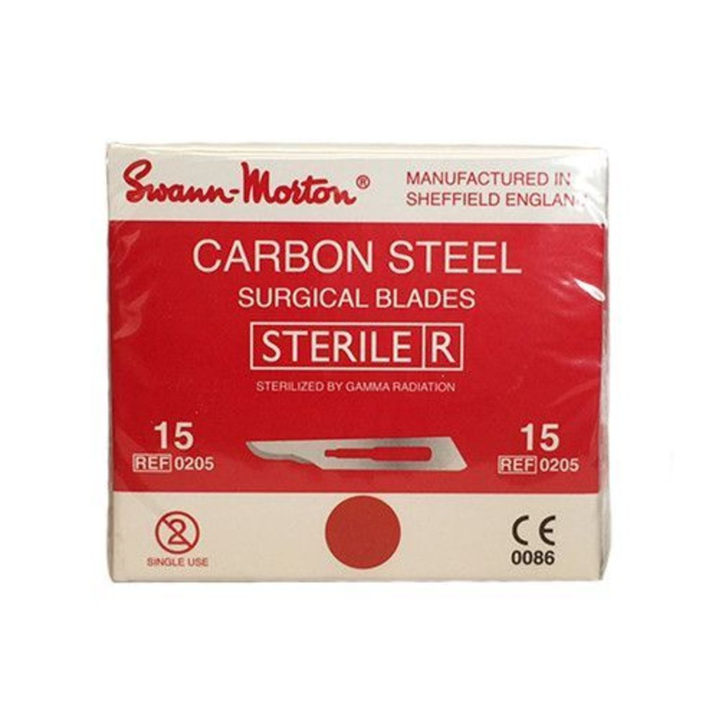 Swann Morton nr15 Scalpel blades Sterile 100 pieces