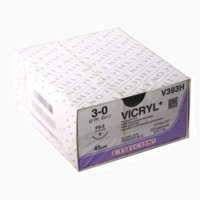 Ethicon V393H - Vicryl FS-2 needle thread thickness 3-0