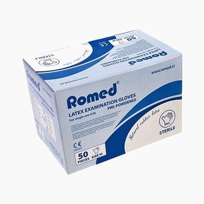 Romed Sterile Latex-Untersuchungshandschuhe einzeln verpackt