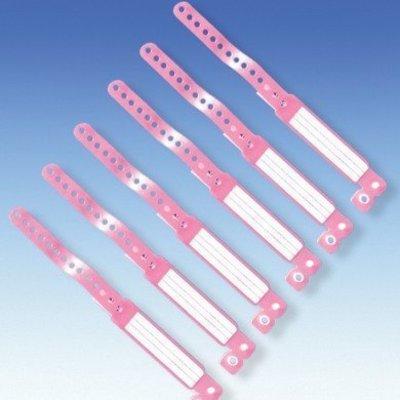 123disposables Kinderkennzeichnungsband, 250 St_ck rosa Standard