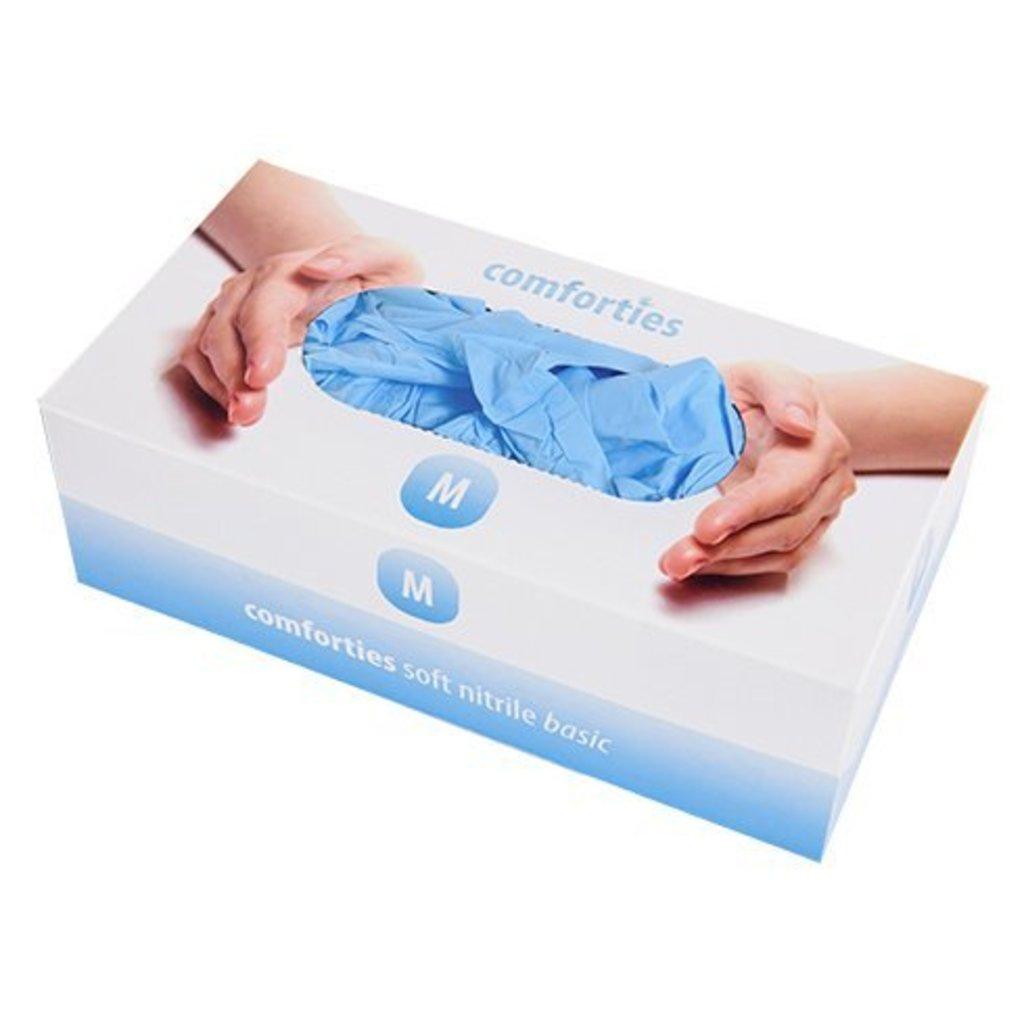 Comforties Soft nitril Basic handschoenen Blauw 150 stuks