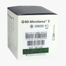 """BD Microlance 21G x 1 """"- 0.80 x 25mm Green injection needles"""
