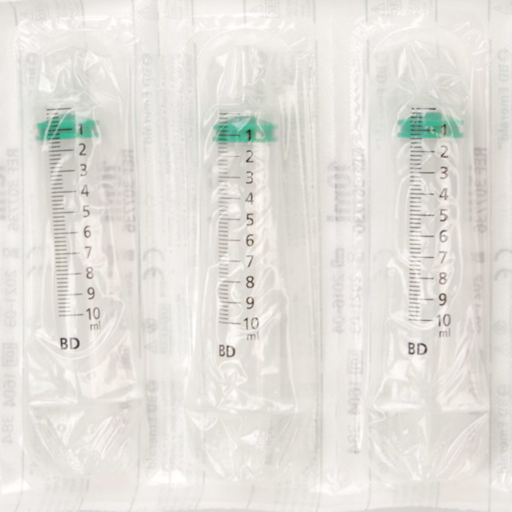 BD Emerald 10ml syringe 3 parts