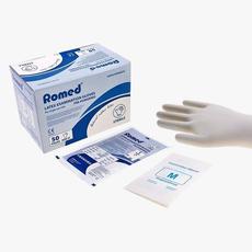 Romed Steriele latex onderzoekshandschoenen per stuk verpakt