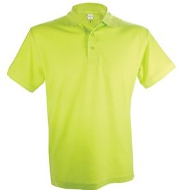 Poloshirts voor heren (Men's polo pique) in de kleur lichtgroen (lemon)