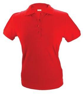 100% katoenen dames Poloshirts (polo pique) in de kleur paars