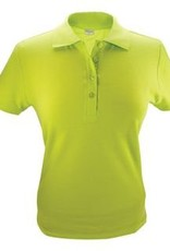 100% katoenen dames Poloshirts (polo pique) in de kleur oranje