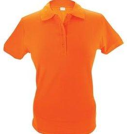 100% katoenen oranje dames Poloshirts (polo pique)
