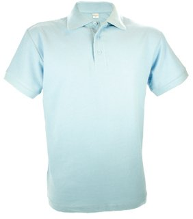 Poloshirts voor heren (Men's polo pique) in de kleur wit