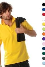 Goedkope heren poloshirts (Men's polo pique) in de kleur geel kopen?