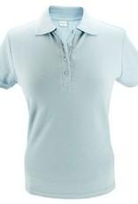 100% katoenen dames Poloshirts (polo pique) in de kleur lichtblauw