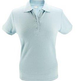 100% katoenen lichtblauwe dames Poloshirts (polo pique)