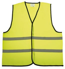 Kinder Veiligheidshesjes in de kleur fluor geel voorzien van reflecterende strepen (uni kinder maat)