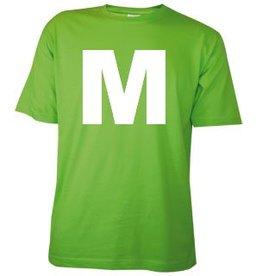 Katoenen lichtgroene T-shirts in maat M