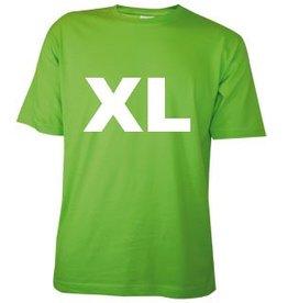 Katoenen lichtgroene T-shirts in maat XL