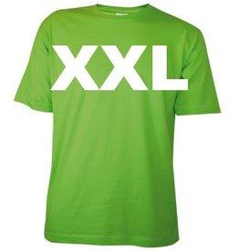 Katoenen lichtgroene T-shirts in maat XXL
