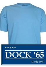 Paarse T-shirts met korte mouw en ronde hals