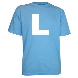 100% katoenen lichtblauwe T-shirts in de maat S t/m 4XL kopen?