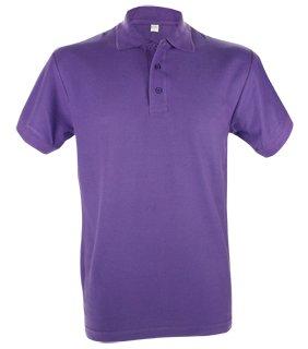 Goedkope poloshirts voor heren (Men's polo pique) in de kleur rood kopen?