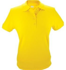 Goedkope dames Poloshirts in de kleur geel (maten S t/m XXL)