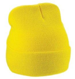 Warme gebreide gele winter mutsen (1 universele volwassen maat)