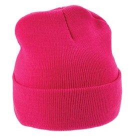 Warme gebreide roze winter mutsen (1 universele volwassen maat)