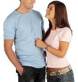 Getailleerde FIT T-shirts met korte mouw en ronde hals (zeer mooie kwaliteit, 100% combed ringspun cotton)