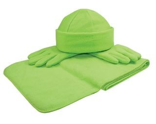 Fleece winterset met 1 paar handschoenen, muts en sjaal!
