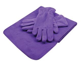 Fleece winterset met 1 sjaal en 1 paar handschoenen!
