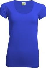 Dames T-shirts, extra lang, bodyfit (getailleerd)