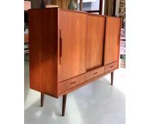 * VERKOCHT * Prachtige vintage deens design dressoir/wandkast