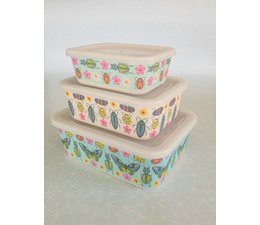 Lunch boxes - 3 in 1 - Butterflies & Beetles
