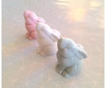 Lieflijk porseleinen pastel konijntje