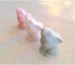 Lieflijk porseleinen pastel konijntje, assorti